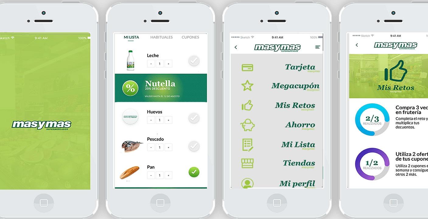 Imágenes de la app móvil de supermercados masymas