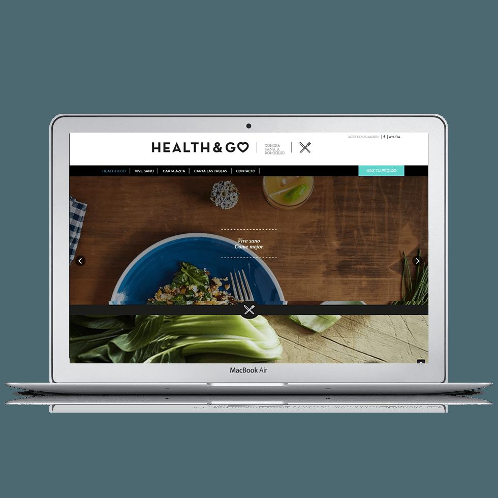 Web de comercio electrónico de comida y repartos