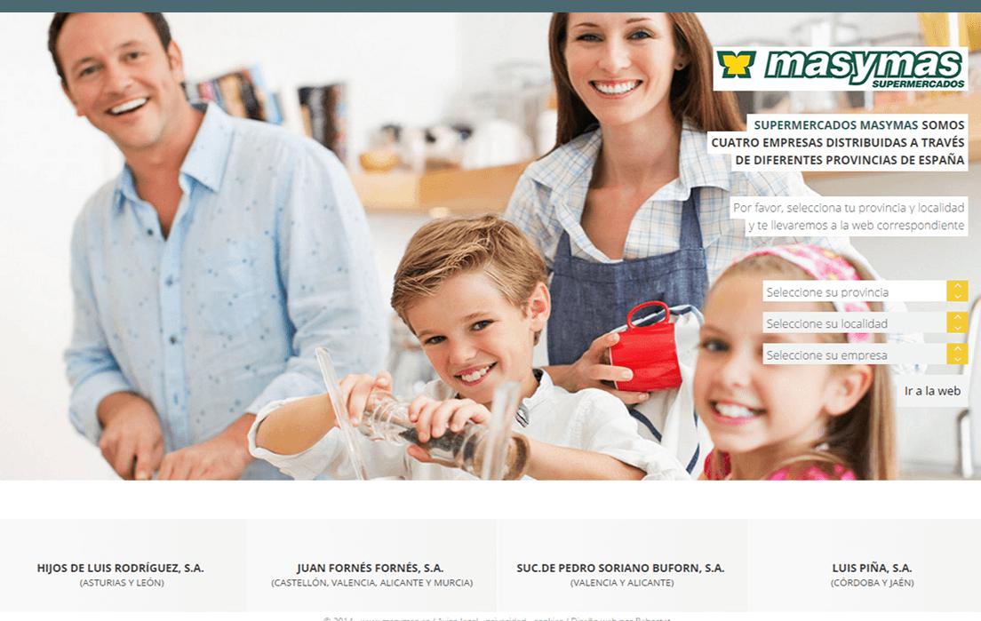 Inicio web masymas supermercados